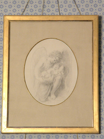 Guardian Angel with Benjamin Disraeli, 1st Earl of Beaconsfield (1804-1881) as a baby