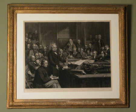 Henry John Temple, 3rd Viscount Palmerston, KG, GCB, MP (1784-1865) addressing the House of Commons ...
