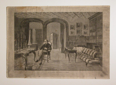 Benjamin Disraeli, 1st Earl of Beconsfield, MP, PC, FRS, KG (1804-1881) in his Library (now the ...