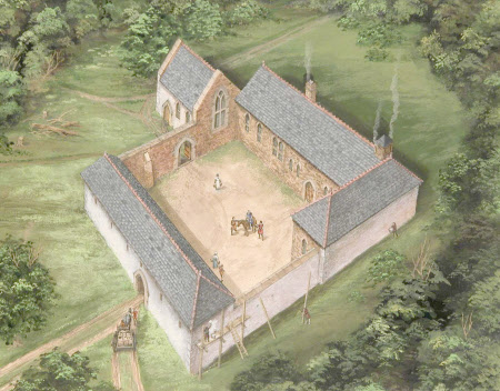 Cotehele, Cornwall, around 1450