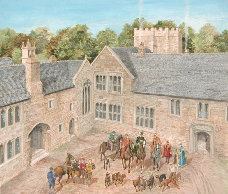 The Hall Court, Cotehele, Cornwall, around 1560