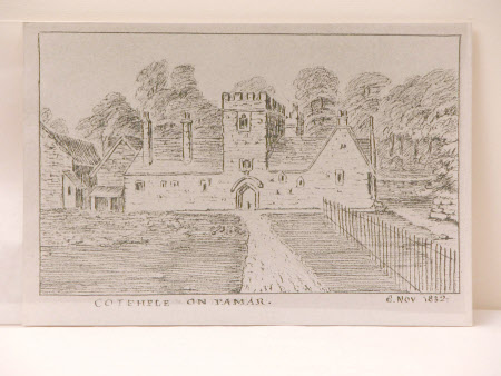 South front, 'Cotehele on Tamar - 8 Nov. 1832'