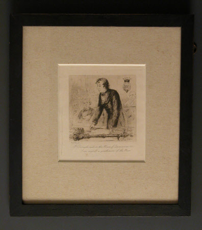 Benjamin Disraeli, 1st Earl of Beconsfield, MP, PC, FRS, KG (1804-1881) in the House of Commons