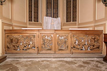 Altar rail panel