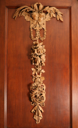 Group of limewood carvings
