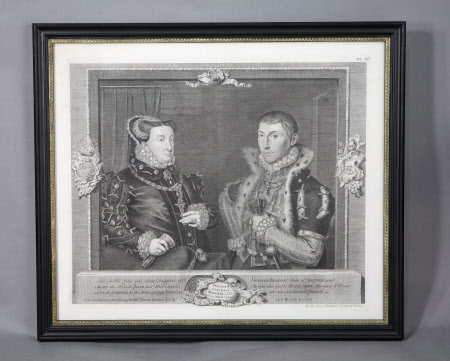 Mary Neville, Lady Dacre (1524-circa 1576) and her son Gregory Fiennes, 10th Baron Dacre ...
