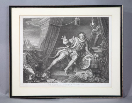 David Garrick (1717-1779) as 'Richard III' in William Shakespeare's 'Richard III' (after William ...