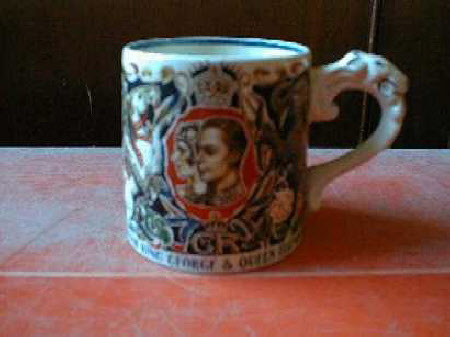 Mug to commemorate the coronation of King George VI (1895-1952) and Queen Elizabeth (1900-2002)