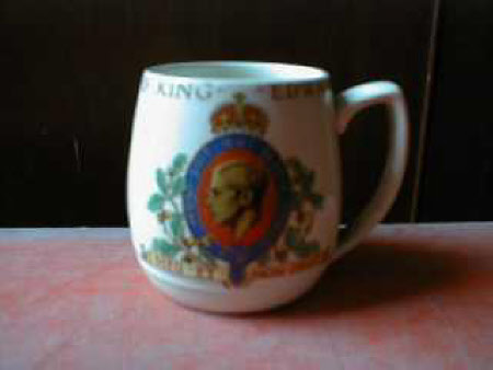 Mug to commemorate the coronation of King Edward VIII, later Duke of Windsor (1894-1972)