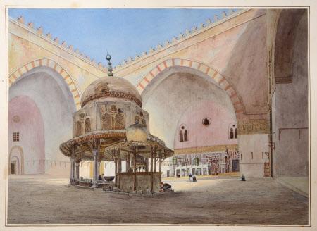 Interior of Mosque of Sultan Hassan, Cairo