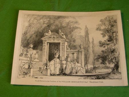Sketches in the Gardens of Shrublands Park, Barnham, Suffolk