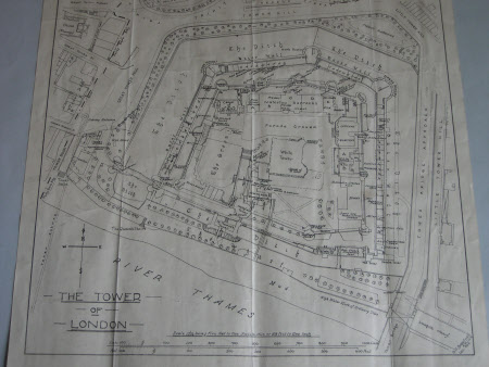 Plan, Map of the Tower of London