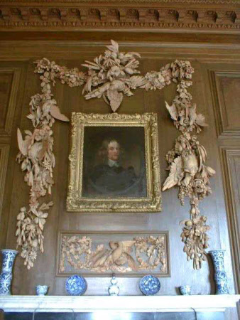 Carved limewood overmantels and panels, attributed to Grinling Gibbons and by Edmund Carpenter