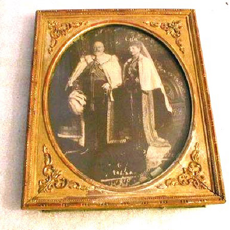 King Edward VII (1841–1910) and Queen Alexandra (1844-1925) in State Robes
