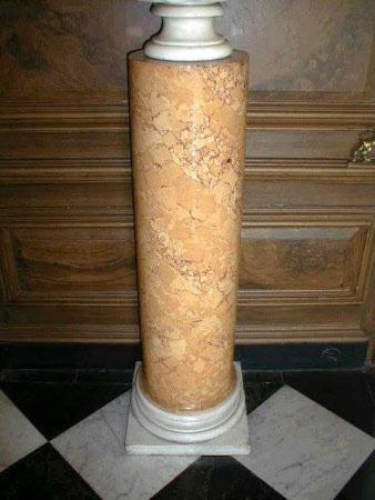 Pair of Sienna scagliola columns