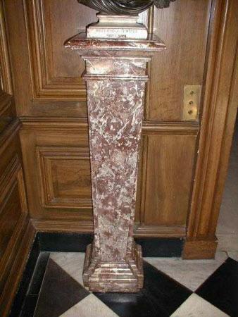 Pair of breccia marble pedestals