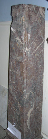 Breccia marble pedestal