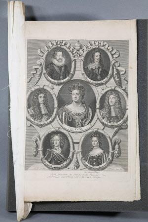 King James I; King Charles I; King Charles II; Queen Anne; King James II; William, Duke of ...