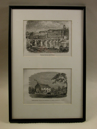 (top) Wylam Colliery and Village, (bottom) Street House, Wylam - the birthplace of George ...