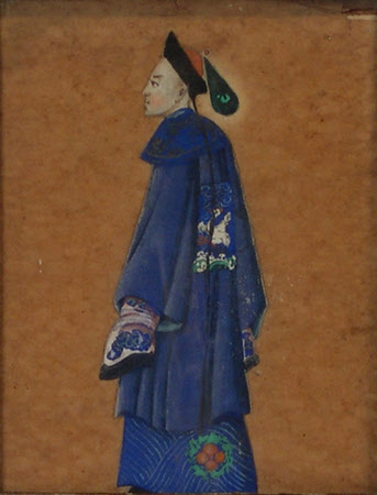 A Mandarin in Blue Robes