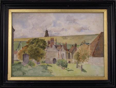 Rottingdean from the Churchyard 1887