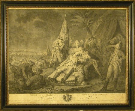 The Death of General Louis-Joseph de Montcalm-Gozon, Marquis de Saint-Veran (1712-1759) (after ...