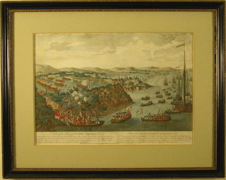 A View of the taking of Quebec September 13th 1759