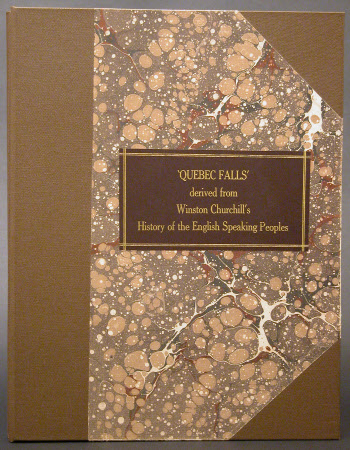 'Quebec Falls' derived from Winston Churchill's History of the English Speaking Peoples