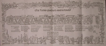 Map/plan of the Herb garden at Bateman's, Sussex