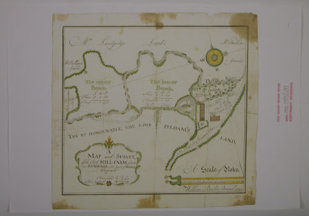 Map and survey of Mill Farm Estate, Burwash, Sussex
