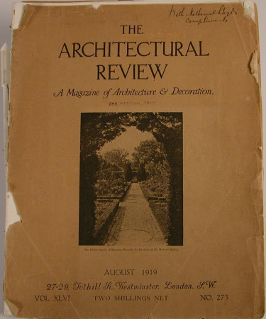 Architectural Review, August 1919.