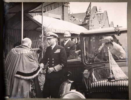 Royal Visit To Broadheath, 17th July 1946: King George VI (1895-1952) and Queen Elizabrth ...