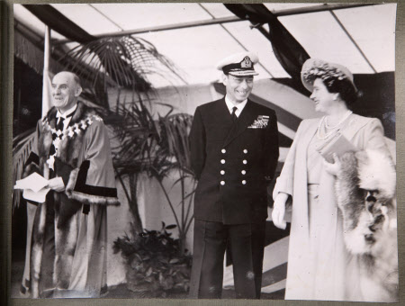 Royal Visit To Broadheath, 17th July 1946: King George VI (1895-1952), Queen Elizabeth (1900-2002) ...