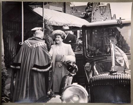 Royal Visit To Broadheath, 17th July 1946: King George VI (1895-1952) and Queen Elizabeth ...