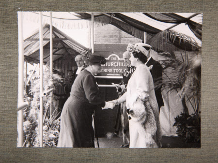 Royal Visit To Broadheath, 17th July 1946: The presentation of the Mayoress of Altrincham to King ...