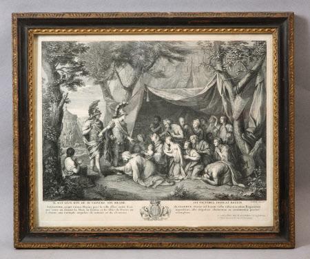 Alexander the Great, accompanied by Hephaestion, meets the family of Darius (Il est d'un Roi de se ...