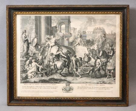 Entry of Alexandra the Great into Babylon (Ainsi par la Vertu s'élèvent les héros) (after Charles ...