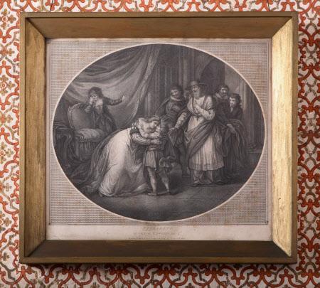 Elizabeth Woodville, Queen Dowager of Edward IV delivering up her son Prince Richard, Duke of York ...