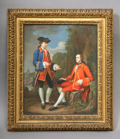 Lord Grey of Groby, later 5th Earl of Stamford  (1737-1819) and his Travelling Companion, Sir Henry ...