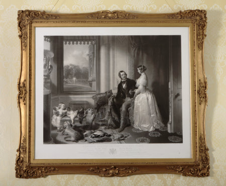 'Windsor Castle in Modern Times' : Queen Victoria, Prince Albert and Victoria, the Princess Royal ...