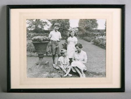 Lady Jane Grey, Lady Turnbull (1899-1991) with her three children, John Turnbull (b.1928), Marjorie ...