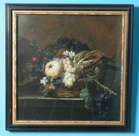 Fruit and Flowers in a Basket