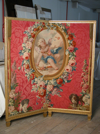 Fire Screen – Cupid burning his Bow