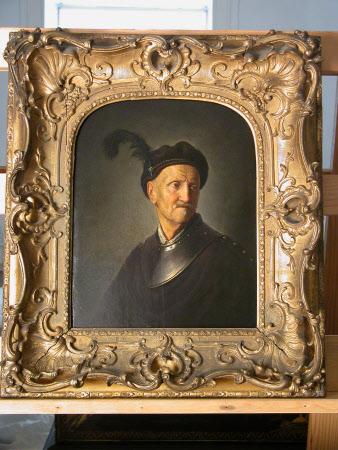 Rembrandt's Father in a Halberk