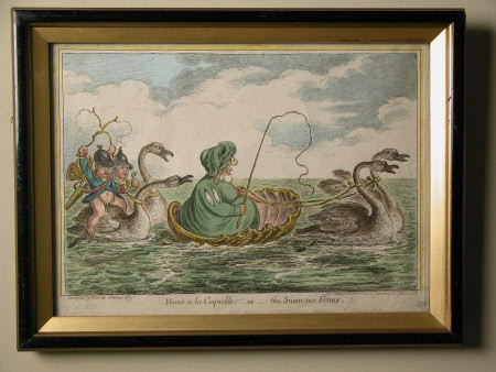 Venus a la coquelle, or The Swan-sea Venus: Mrs Jones of Swansea (fl.1809)