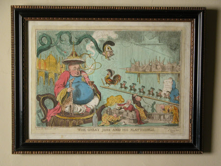 'The great Joss and his playthings' by G. Creed (fl.1829): King George IV (1762-1830),Elizabeth ...