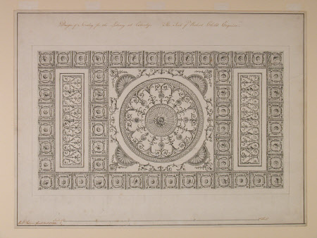 Design of a ceiling for the Library at Osterley. The Seat of Robert Child Esquire