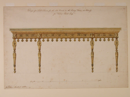 Design of a table frame for the sideboard in the Eating Room at Osterley for Robert Child Esq.