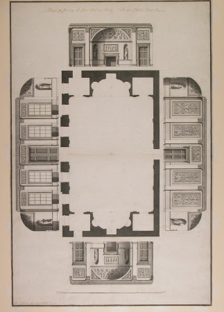 Design for furnishing the Great Hall at Osterley. The Seat of Robert Child Esquire.
