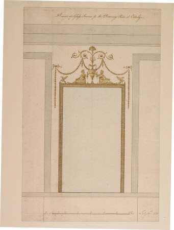 Design of a glass frame for the Drawing Room at Osterley